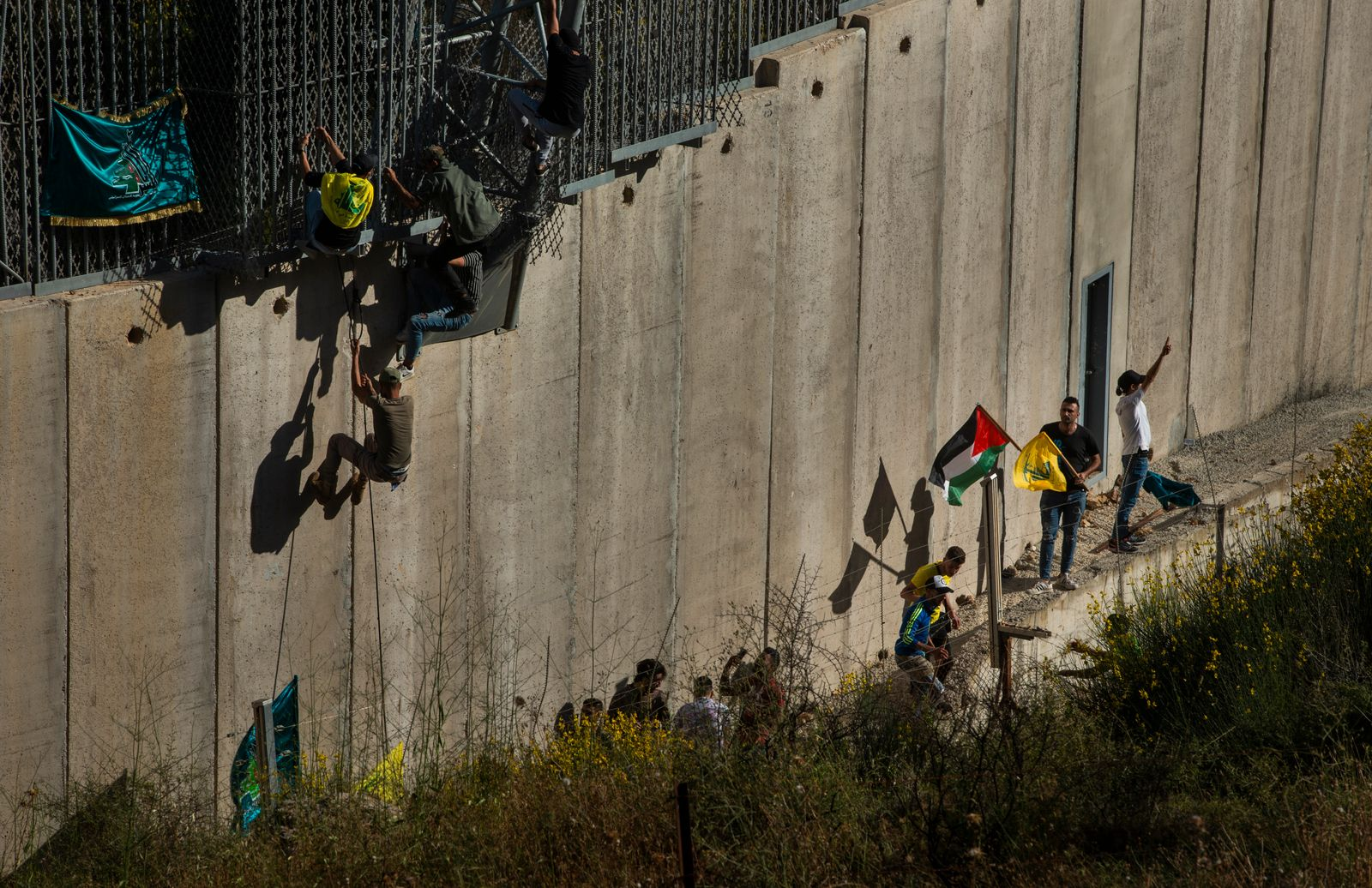 Protesters Gather At Lebanon-Israel Border For Second Day