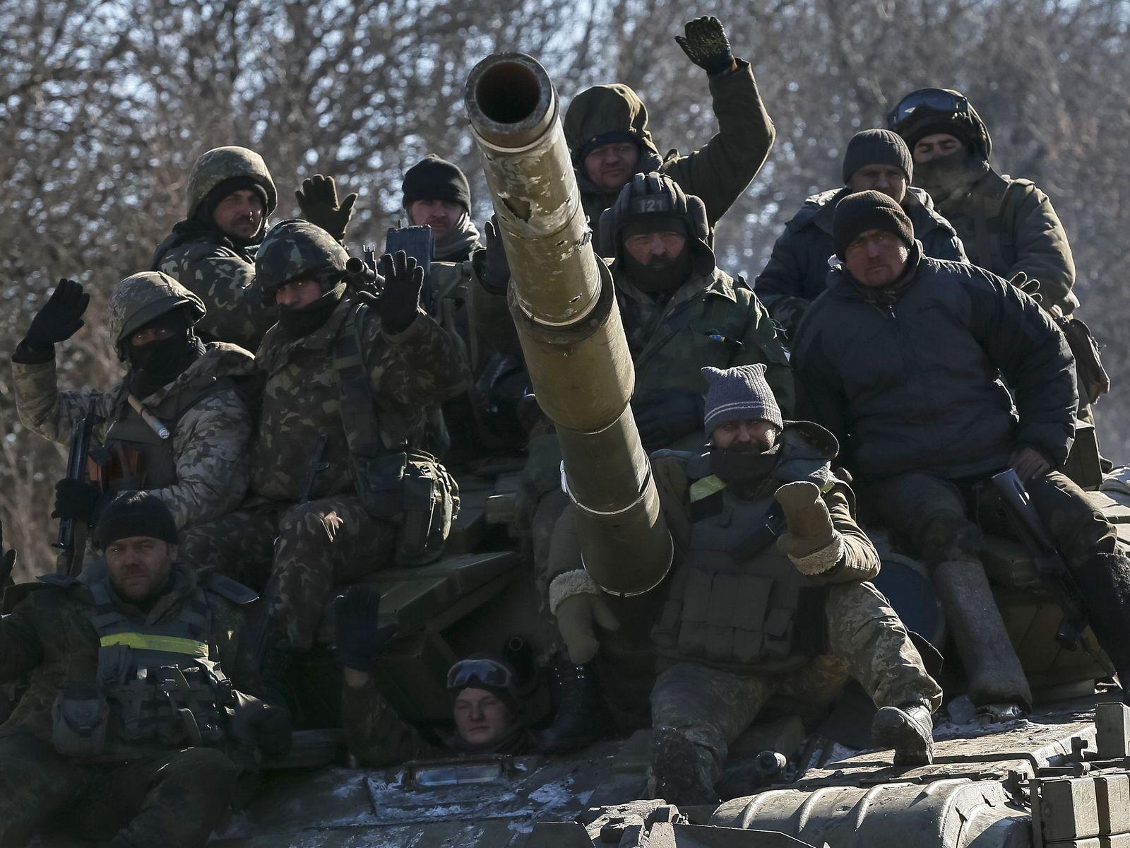 Ukraine / Debaltseve / Abzug