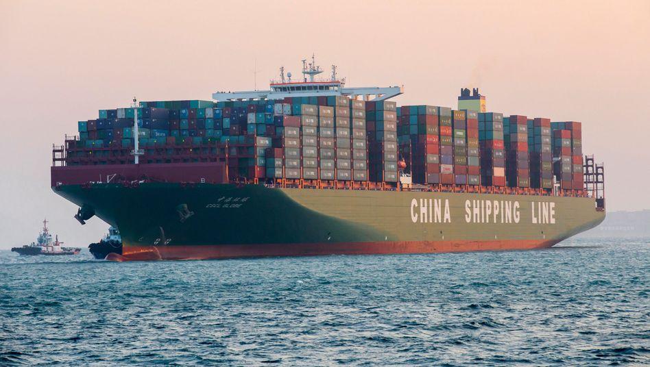 Größtes Containerschiff der Welt: Deutschlands Exporte steigen um zwölf Prozent
