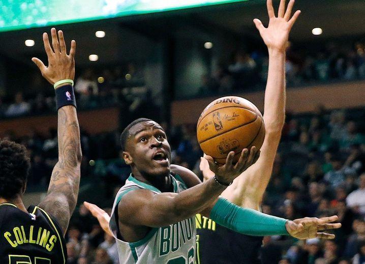 Bird im Einsatz für die Boston Celtics