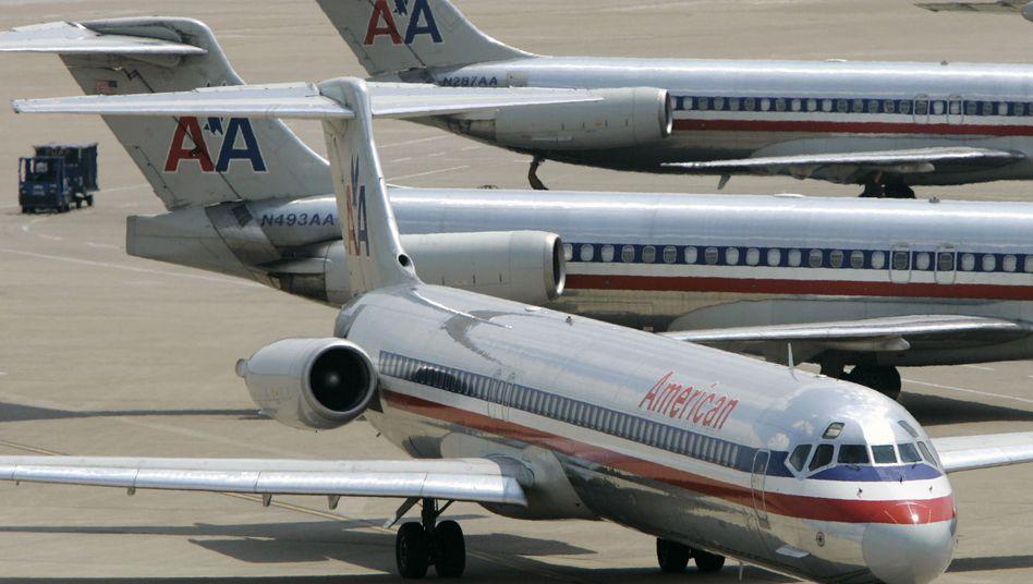 Maschinen von American Airlines in Dallas: Flucht in den Gläubigerschutz