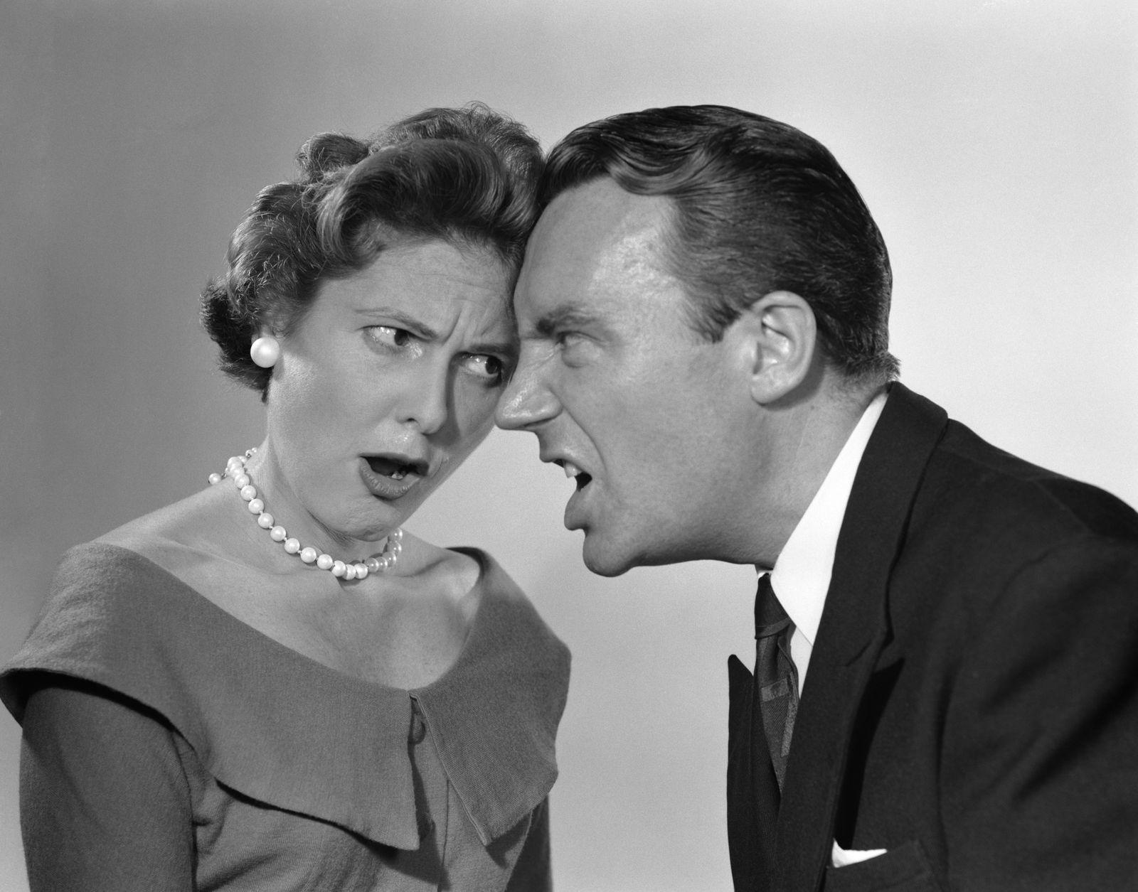 1950s ARGUING COUPLE...