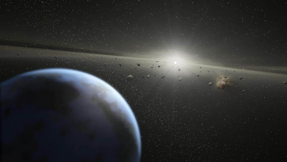 """Gefahr aus dem All (grafische Darstellung): """"Kleine Asteroiden sind das größere Problem"""""""