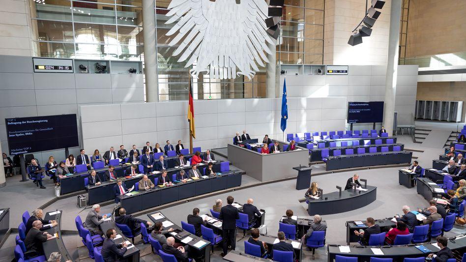 Sitzung im Deutschen Bundestag, Archivbild vom 13. März 2020