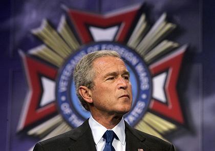 """US-Präsident Bush bei Kriegsveteranen: """"Der Charakter des Kampfes ist unverändert"""""""