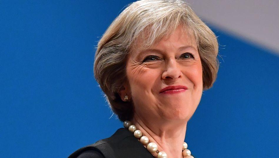 Theresa May auf dem Parteitag in Birmingham