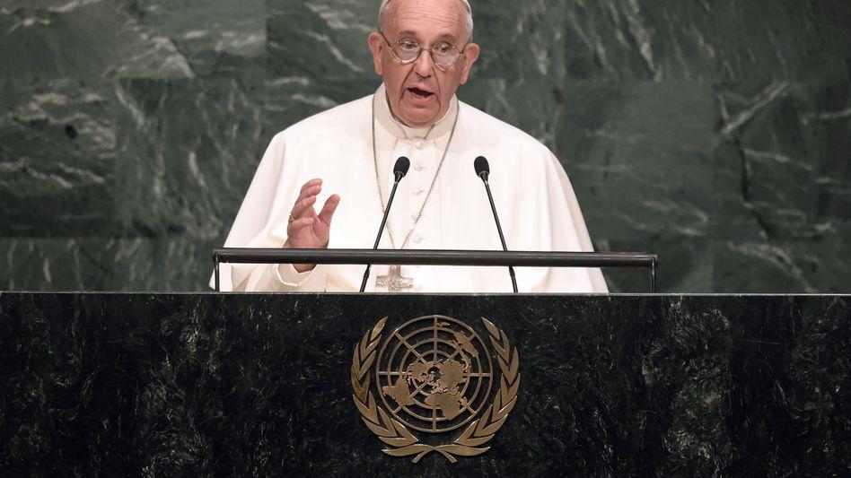 """Papst Franziskus vor den Vereinten Nationen: """"Jeder Mensch hat ein Recht auf Leben"""""""