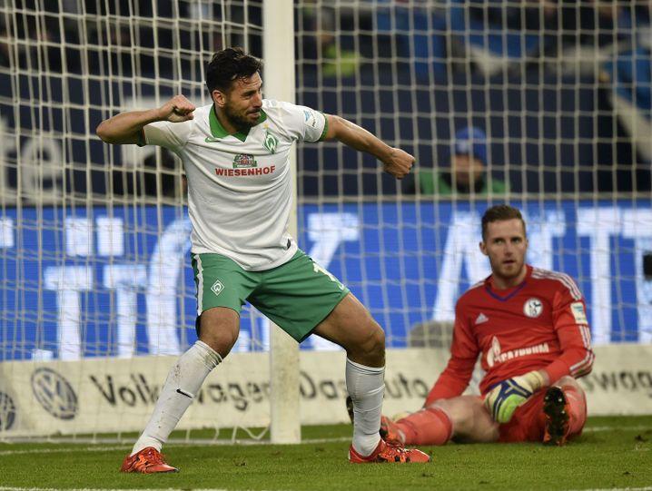 Bremen-Torschütze Pizarro: Mit Stefan Kuntz gleichgezogen