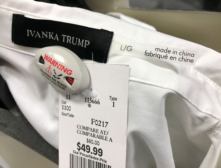 Reduzierte Trump-Ware