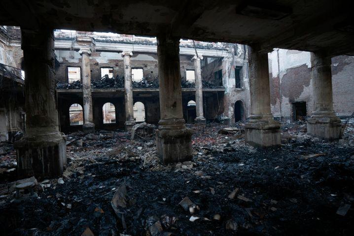 Die Jagger-Bibliothek nach dem Brand: Feuer und Wasser zerstörten wertvolle Bestände