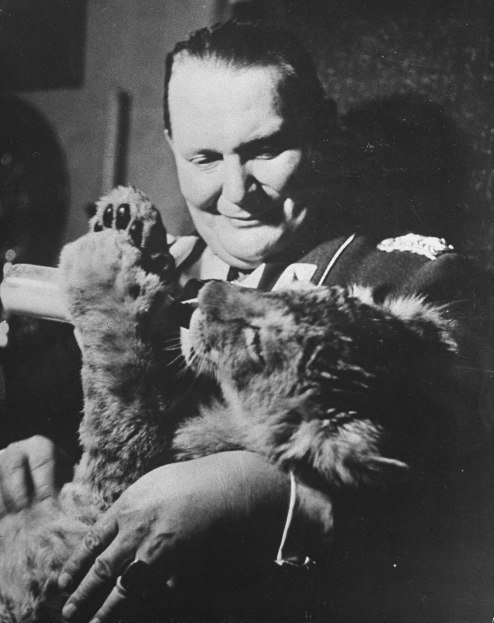 Goering Plays With Pet Lion