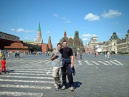Am Puls der russischen Macht: Das Radsportteam Berlin-Nord ist auf dem Roten Platz angekommen, wo einst Matthias Rust landete