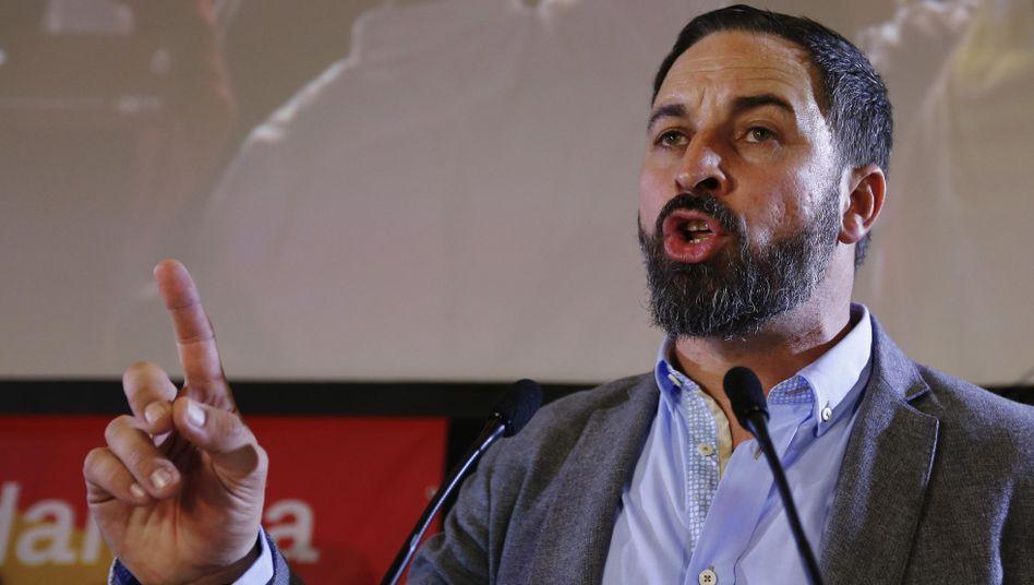 Rechtsradikaler Politiker Santiago Abascal