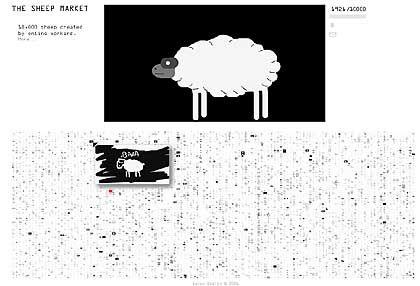 """""""The Sheepmarket"""": 10.000 Schafe für 2 Cent pro Stück"""