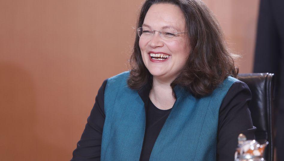 Nahles in ihrer letzten Kabinettssitzung am Mittwoch