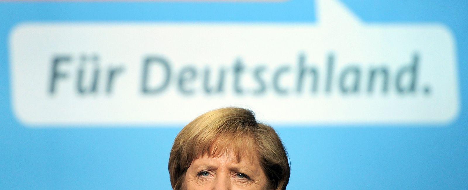 Wahlkampf der CDU mit Merkel