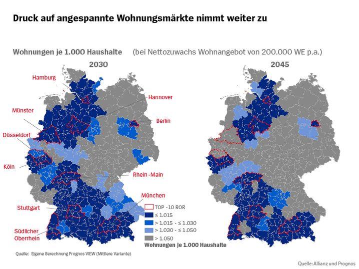 Wohnungsmarktsituation 2030 und 2045