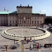 A giant Round Table was set up in Berlin's Bebelplatz to accommodate the 112 leading thinkers from around the world.