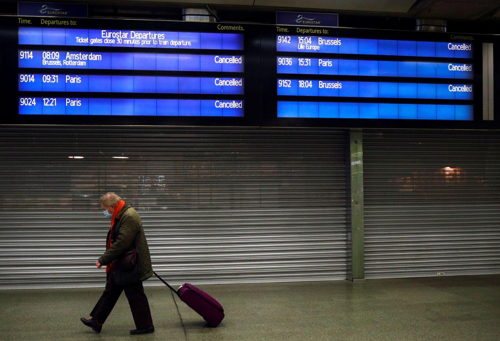 Eurostar terminal at St Pancras International in London