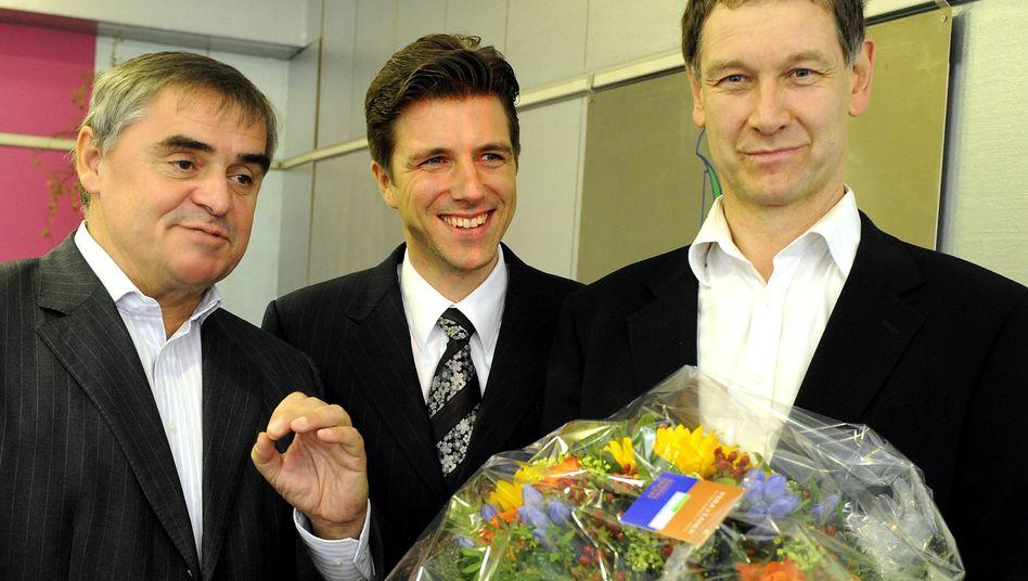 Künftiges Regierungstrio: Ministerpräsident Müller (CDU), FDP-Chef Christoph Hartmann, Grünen-Chef Ulrich