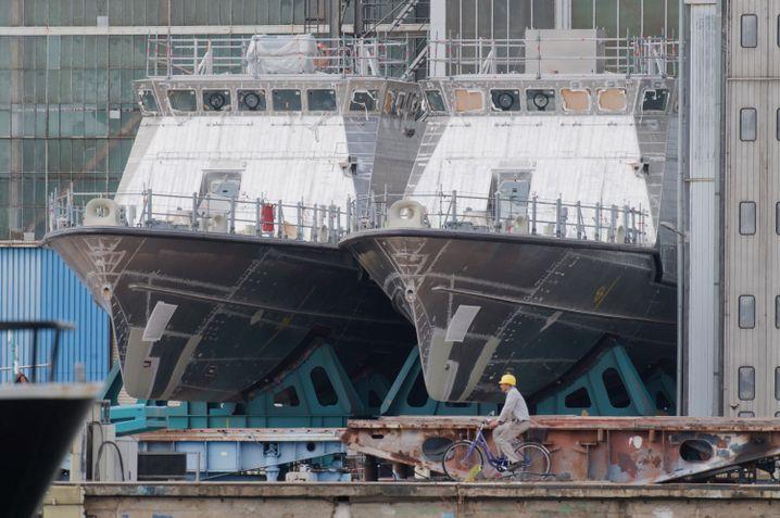 Patrouillenboote in der Peene-Werft: Der deutsche Rüstungsexportstopp für Saudi-Arabien ist eine Ausnahme
