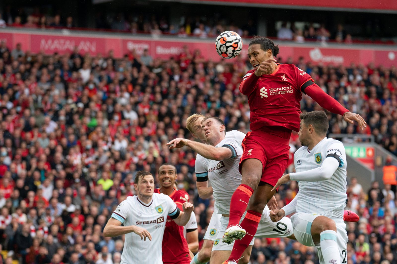 Football - 2021 / 2022 Premier League - Liverpool vs Burnley - Anfield - Saturday 21st August 2021 Liverpool s Virgil va