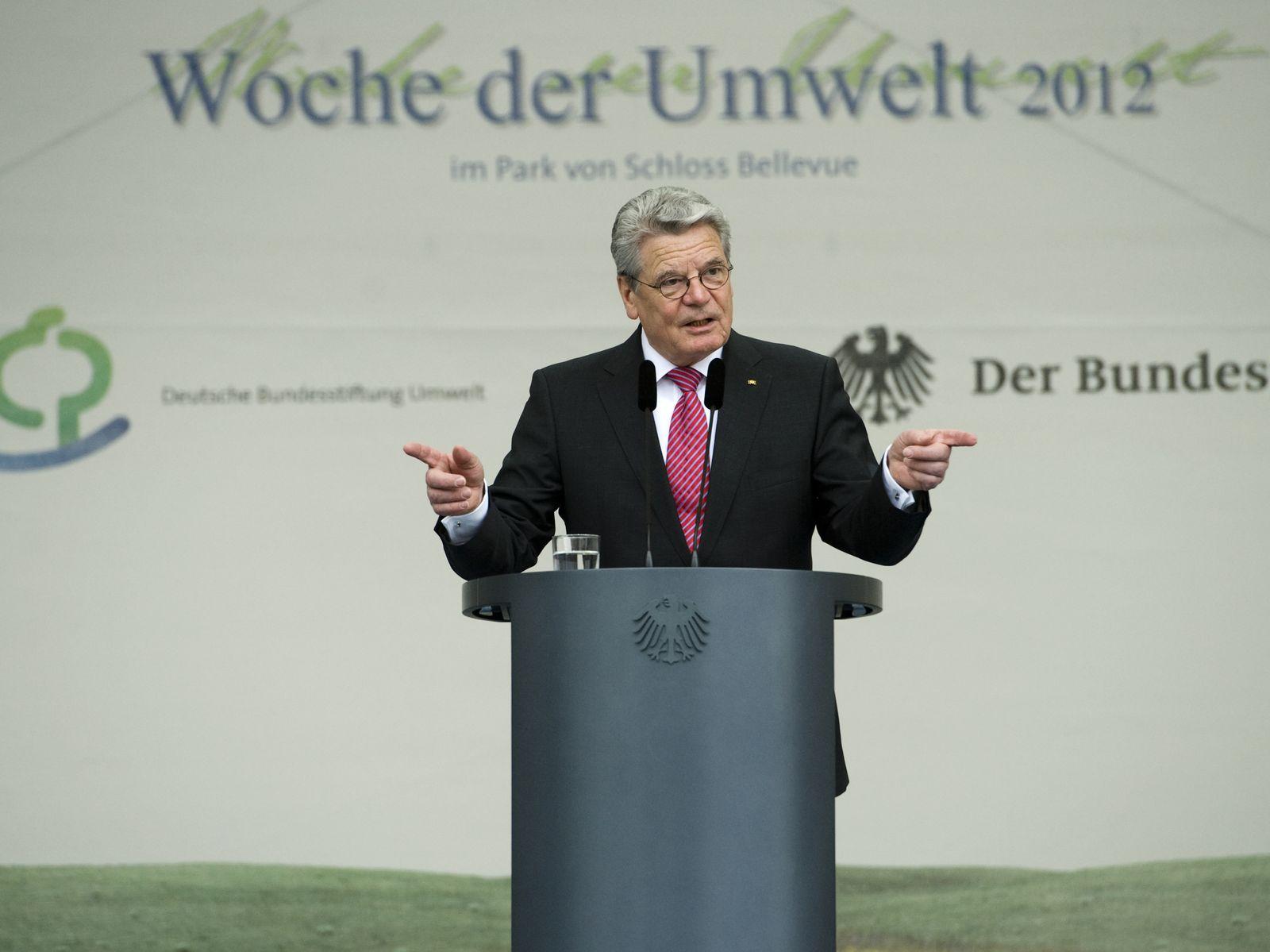 NICHT VERWENDEN Gauck / Woche der Umwelt