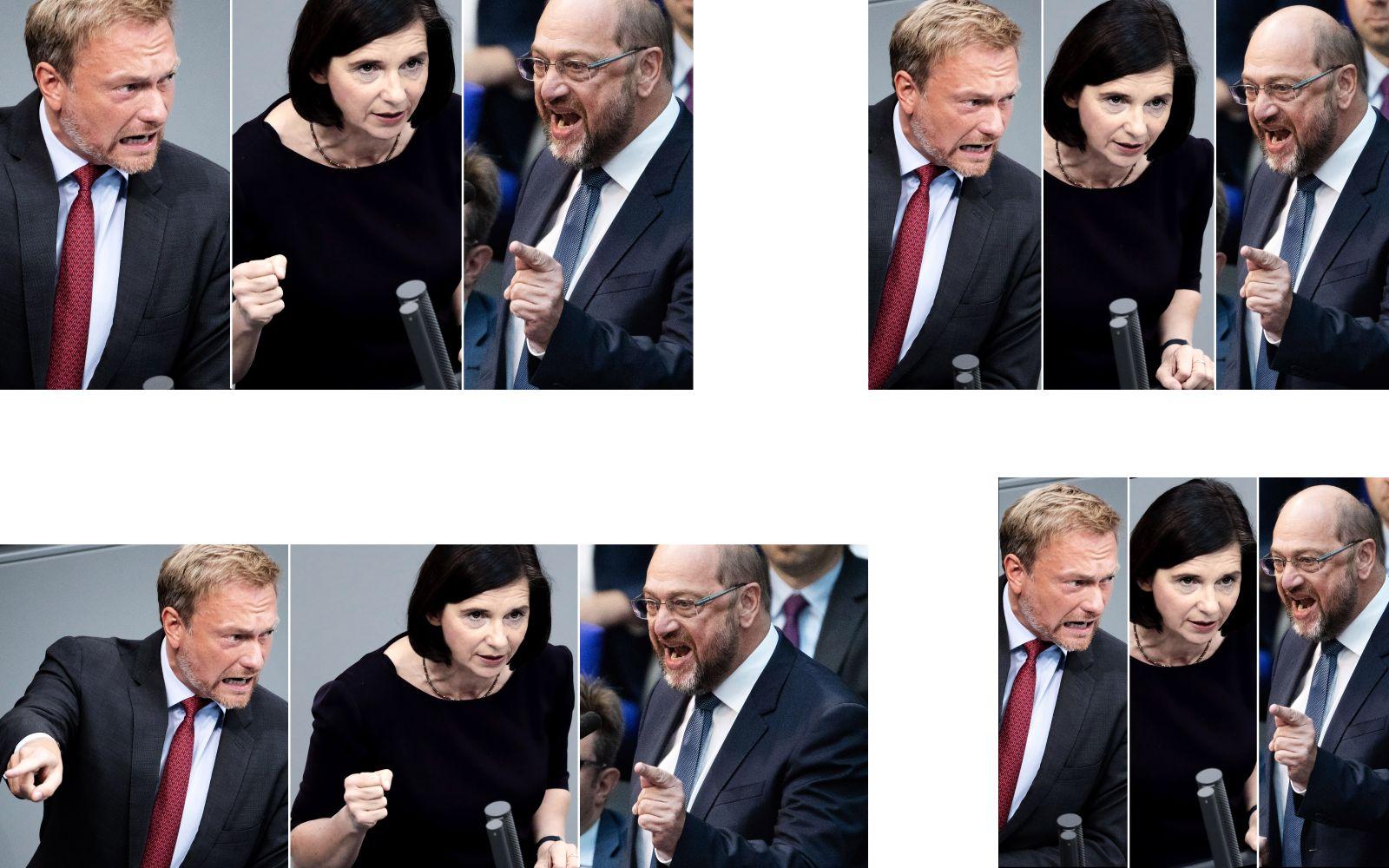 EINMALIGE VERWENDUNG COMBO/ Lindner/ Göring-Eckardt/ Schulz