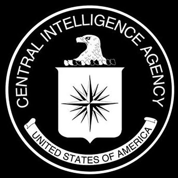 CIA-Logo in Schwarz-Weiß: Sonst ist es dunkelblau