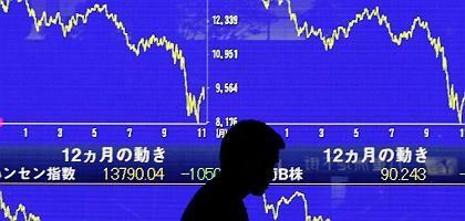 Börse in Fernost: Abschwung erfasst Weltwirtschaft