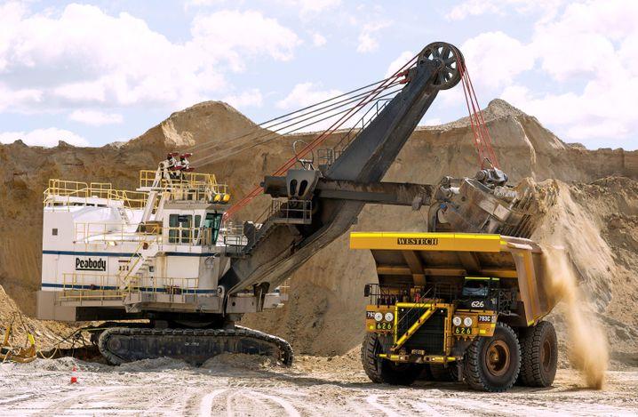 Kohlemine von Peabody in Wyoming