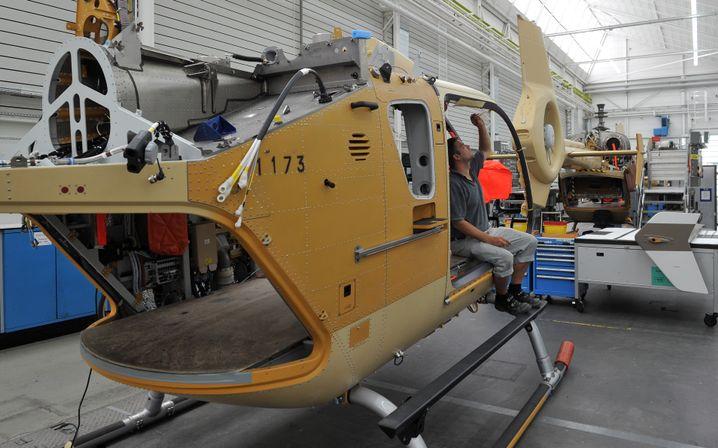 Helikopter-Montage in Donauwörth (Archivbild)