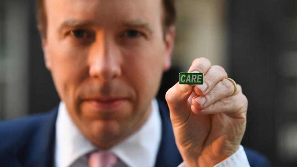 Steht in der Kritik: Matt Hancock, britischer Minister für Gesundheit und Sozialfürsorge
