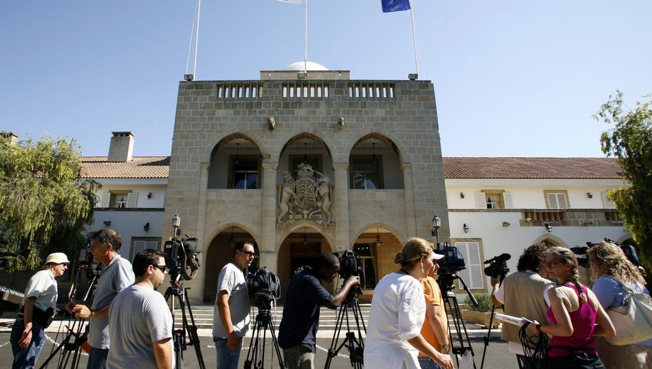 The presidential palace in Nikosia, Cyprus, which is in talks to receive a euro-zone bailout.