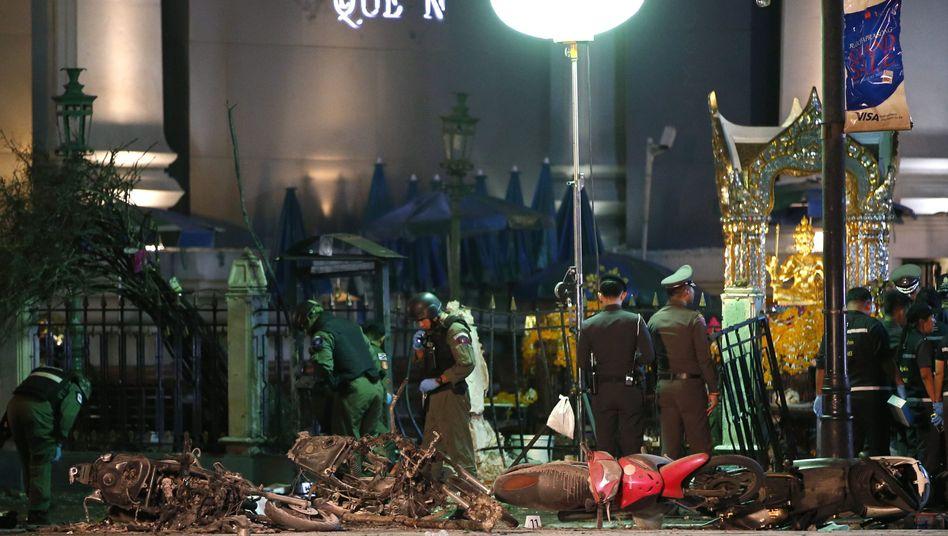 Zerstörung in Bangkok: 20 Menschen starben bei Bombenanschlag