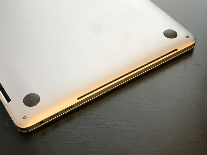 Lüftungsöffnung am MacBook Pro