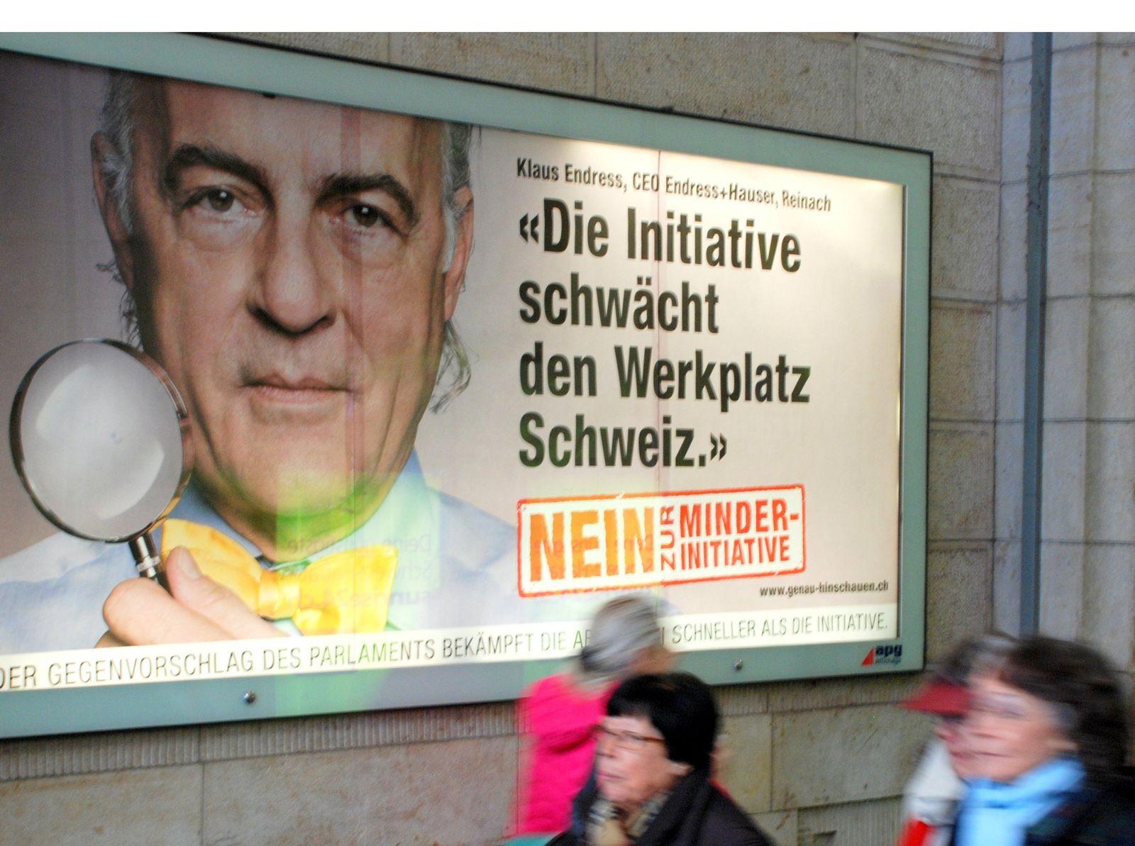 Schweizer Manager-Millionen / Minder-Initiative / Manager-Gehälter