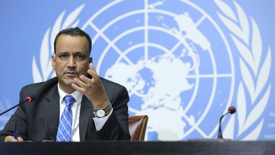 """Uno-Sondergesandter Ahmed: Optimistisch, dass eine Vereinbarung über eine Waffenruhe """"schon bald"""" erreicht werden könne"""