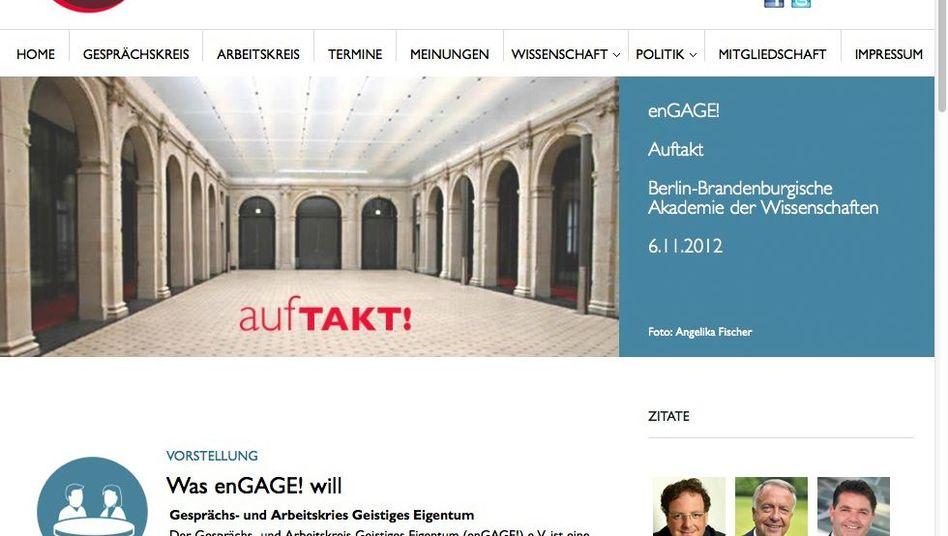 Engage-Website: Schutz des Urheberrechts ist das Ziel