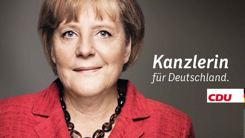Neues CDU-Plakat: Merkel-App draufhalten - und die Kanzlerin spricht