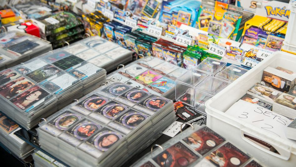 Sammelkarten-Verkauf auf einer Messe: »Pokémon«-Karten wurden kürzlich zu einem YouTube- und Twitch-Phänomen