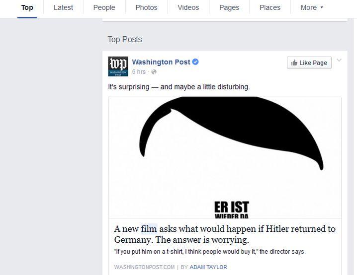 """Suche nach """"Alles steht Kopf Film"""": Das zeigt Facebook als Top-Suchergebnis"""