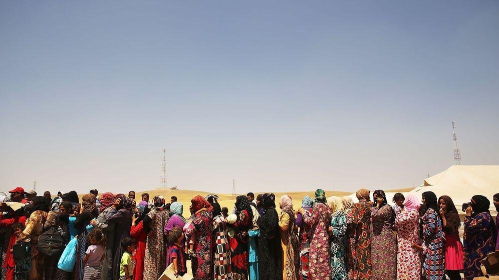 IS im Nordirak: Massenflucht vor den Dschihadisten