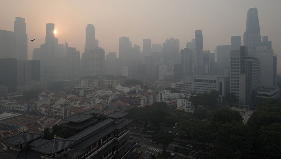 Smog über Singapur
