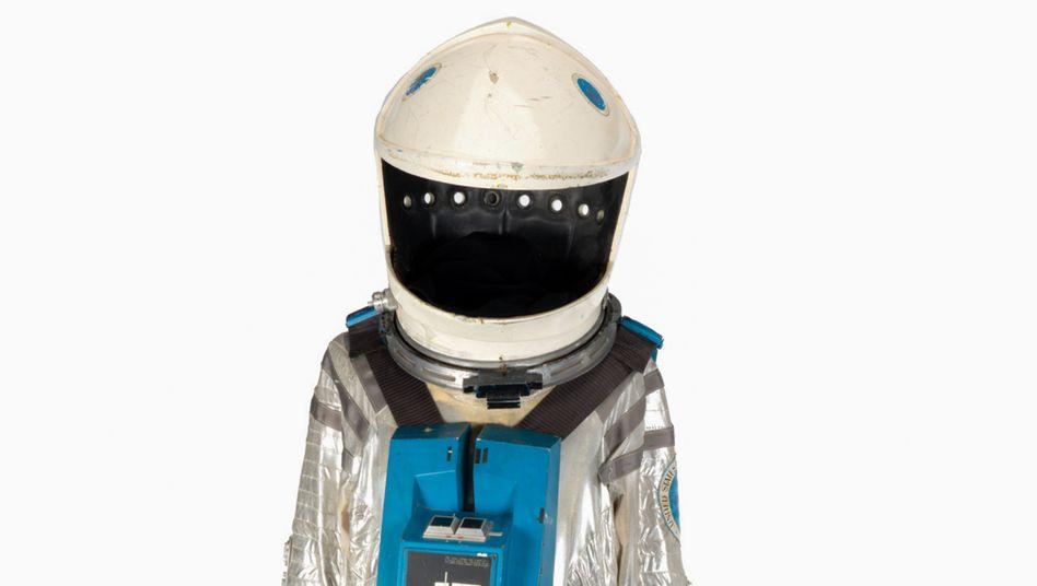 """Raumanzug aus """"2001: Odyssee im Weltraum"""": Helm mit mehreren Farbschichten"""