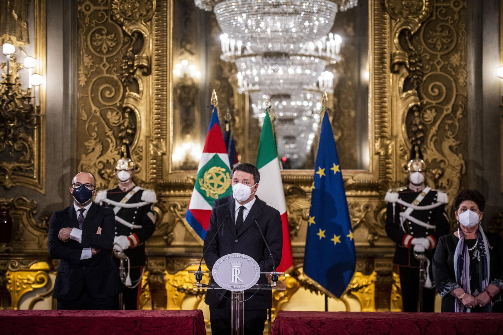 Government crisis in Italy, Rome - 28 Jan 2021