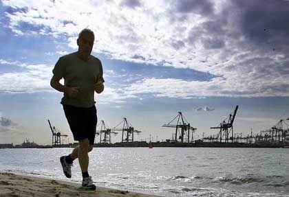 Jogger: Sport hält im Alter die Kraftwerke der Zellen fit - gleich ob mit oder ohne Disposition zur Fettleibigkeit