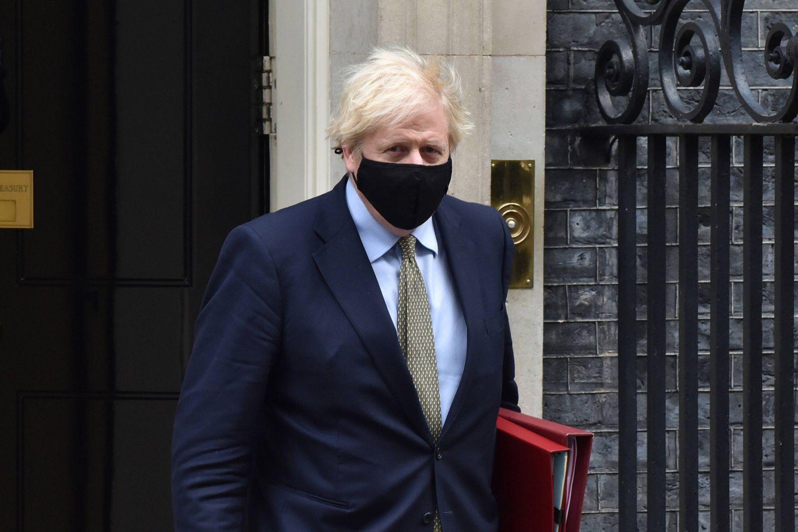 October 14, 2020, London, United Kingdom: British Prime Minister, Boris Johnson leaving Downing Street in London to atte
