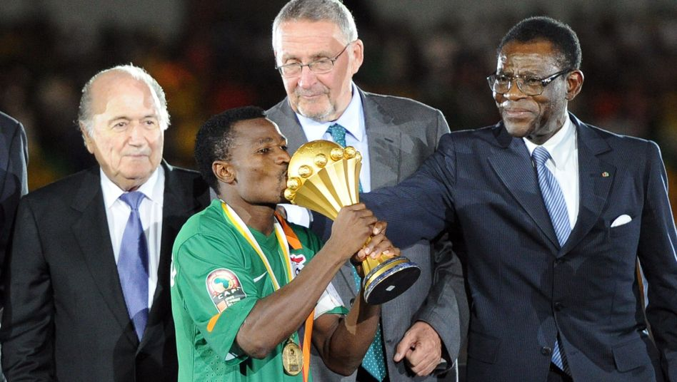 Präsident Teodoro Obiang (r.): Seit 1979 an der Macht