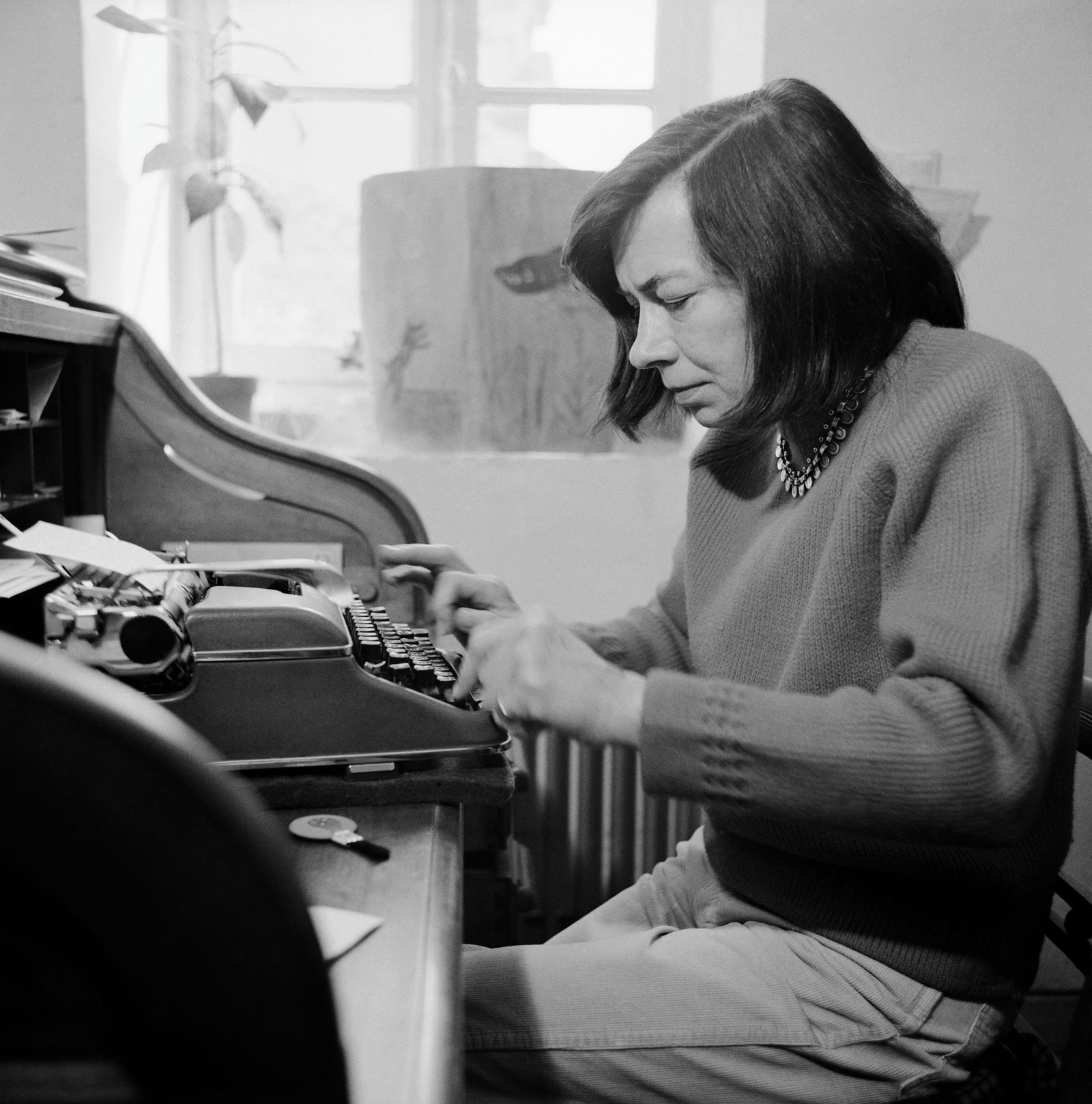 Author Patricia Highsmith at Home